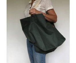Lněná nákupní taška khaki XXL