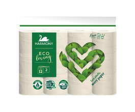 Toaletní papír ECO loving 12 rolí Harmony