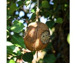 Ptačí krmítko kokos s náplní a 3 otvory