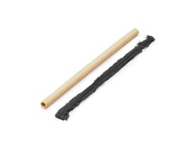 Sada 4 ks bambusového brčka a kartáčku Not just bamboo
