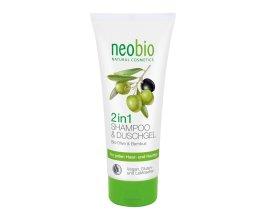 Neobio Šampon & Sprchový gel 2v1 Bio-Olive & Bambus 200 ml