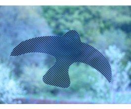 Ptačí siluety na sklo 9 ks černé s průhlednými pruhy