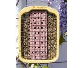 Včelky samotářky - dům s úkryty z jílu a slámy -. z dřevocementu