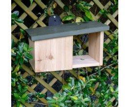 Ptačí polobudka - dřevěná - pro červenky