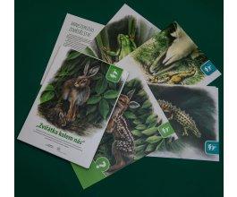 Zvířátka české přírody - výukové karty pro děti