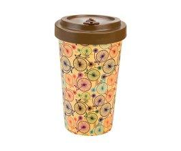 Woodway - opakovaně použitelný kelímek z bambusu na kávu s sebou Bicycles Brown500 ml