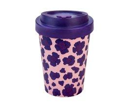 Woodway - opakovaně použitelný kelímek z bambusu na kávu s sebou Pia Purple 300 ml