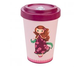 Woodway - opakovaně použitelný kelímek z bambusu na kávu s sebou Sybile Sophia Purple 400 ml