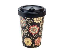Woodway - opakovaně použitelný kelímek z bambusu na kávu s sebou Vintage Black 400 ml