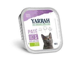 Paté kuřecí a krůtí s aloe vera 100g  - Pro kočky Yarrah BIO