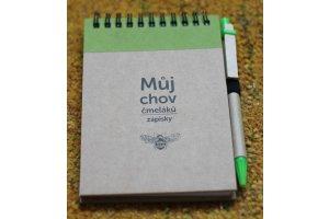 Zápisník o chovu čmeláků s potiskem
