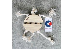 Dřevěná aportovací hračka pro psy - beruška