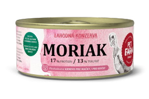 Konzerva pro kočky Moriak 180g
