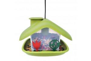 Ptačí krmítko Domek - zelené