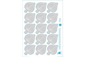 UV samolepky - listy lípy - 15 ks