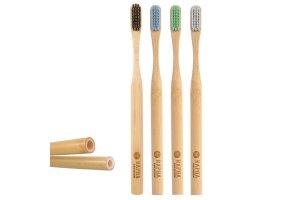 Sada bambusových zubních kartáčků RAPHA PREMIUM 4ks Soft