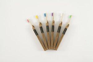 Sada bambusových zubních kartáčků RAPHA PREMIUM 6ks Medium