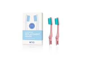 TIO - Náhradní hlavice k zubnímu kartáčku Medium 2 ks - Korálově růžová
