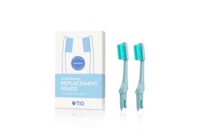 TIO - Náhradní hlavice k zubnímu kartáčku Medium 2 ks - Ledovcově modrá