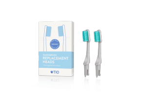 TIO - Náhradní hlavice k zubnímu kartáčku Medium 2 ks - Oblázkově šedá
