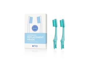 TIO - Náhradní hlavice k zubnímu kartáčku Medium 2 ks - Tyrkysově zelená