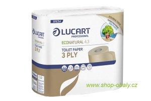 Třívrstvý toaletní papír z recykl. nápoj. kartonů Grazie v papírovém obalu – 4 role