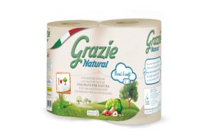 Toaletní papír z recyklovaných nápojových kartonů Grazie – 4 role