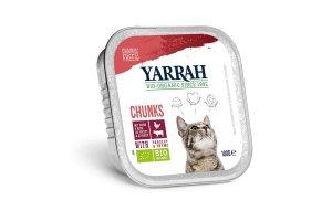 Kuřecí a hovězí kousky ve šťávě 100g - Pro kočky Yarrah BIO