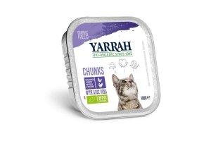 Kuřecí a krůtí kousky ve šťávě 100g - Pro kočky Yarrah BIO
