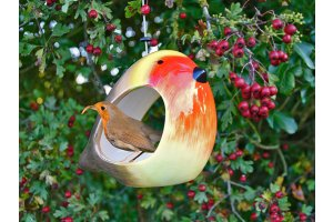 Krmítko pro ptáky keramické - červenka