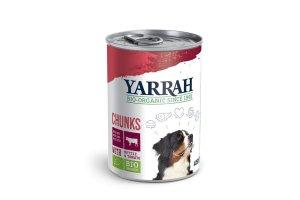 Konzerva pro psy Hovězí kousky ve šťávě 400 g - Yarrah BIO