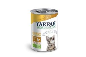 Konzerva pro kočky Kuřecí kousky ve šťávě 400 g - Yarrah BIO