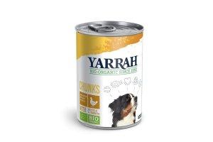 Konzerva pro psy Kuřecí kousky ve šťávě 400 g - Yarrah BIO