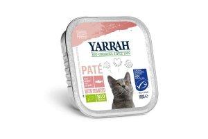 Paté losos s mořskou řasou 100g - Pro kočky Yarrah BIO