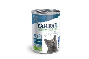 Konzerva pro kočky Paté s rybou 400g - Yarrah BIO